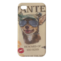 Wanted Rambo Dog Cover iPhone4 4s stampa 3D