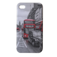 London red and white Cover iPhone4 4s stampa 3D