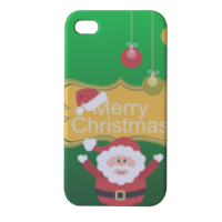Babbo natale decorato Cover iPhone4 4s stampa 3D