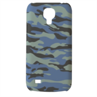 Blue camouflage  Cover Samsung Galaxy s4 mini stampa3D