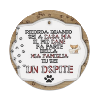 Tablet dog verticale Sottobicchiere masonite tondo
