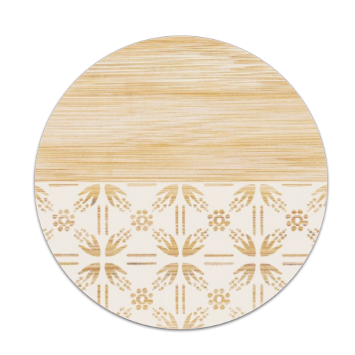 Bamboo and Japan Sottobicchiere masonite tondo
