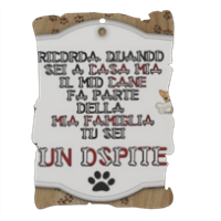 Dog Tablet  Pergamena in masonite