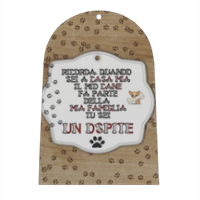 Tablet dog verticale Campana in masonite
