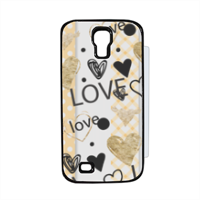 Love and Love Flip cover Samsung Galaxy S4