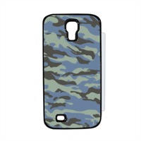 Blue camouflage  Flip cover Samsung Galaxy S4