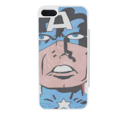 CAPITAN AMERICA 2014 Flip sportello laterale iPhone5