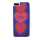 cuori in blu Flip sportello laterale iPhone5