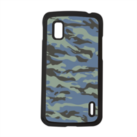 Blue camouflage  Cover Google Nexus 4