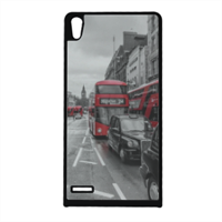 London red and white Cover Huawei Ascend p6
