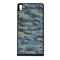 Blue camouflage  Cover Huawei Ascend p6
