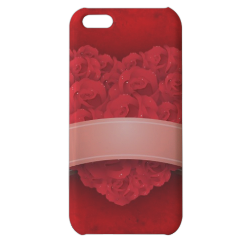 Cuore di fiori Cover iPhone 5c stampa 3D