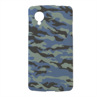 Blue camouflage  Cover nexus 5 stampa 3d