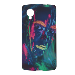 ragazza fluorescente Cover nexus 5 stampa 3d