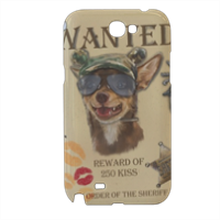 Wanted Rambo Dog Cover samsung galaxy note2 3d