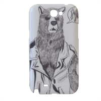 Bear Metal Cover samsung galaxy note2 3d