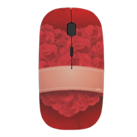 Cuore di fiori - Mouse stampa 3D wireless