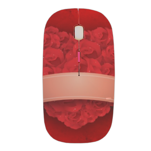 Cuore di fiori Mouse stampa 3D wireless