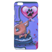 I Love Dog Blu Cover iPhone 6 plus stampa 3D