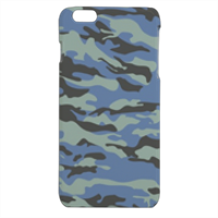 Blue camouflage  Cover iPhone 6 plus stampa 3D