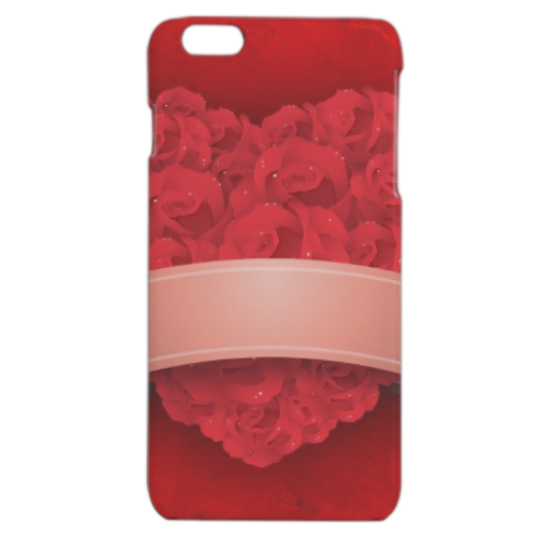 Cuore di fiori Cover iPhone 6 plus stampa 3D