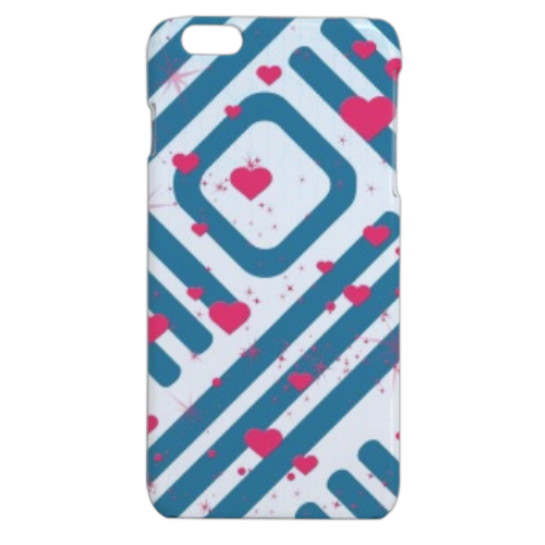 Cuori con sfondo astratto Cover iPhone 6 plus stampa 3D