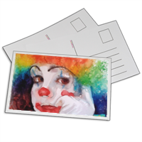 baby clown Foto su Cartoline