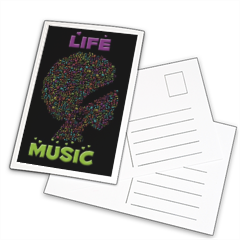 Life is Music Foto su Cartoline