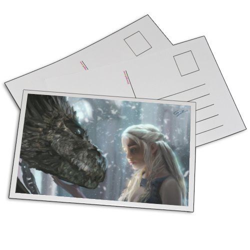 Daeneyrs with Dragon Foto su Cartoline