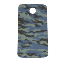 Blue camouflage  Cover nexus 6 stampa 3D