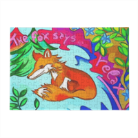 The Fox says  Puzzle in Legno Big