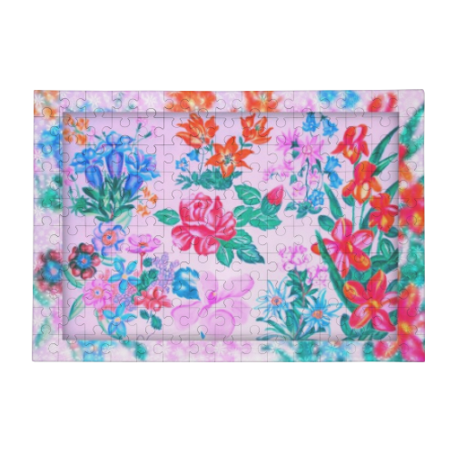 Flowers Puzzle in Legno Big