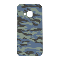 Blue camouflage  Cover HTC One M9 3D