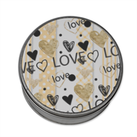 Love and Love Scatola di latta tonda con foto