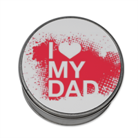 I Love My Dad - Scatola di latta tonda con foto