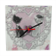 Sweet Love with Dog Orologio vetro quadrato con foto