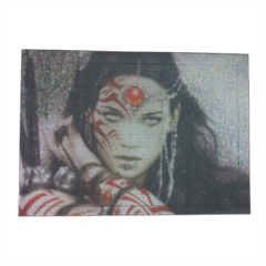 Warrior woman Puzzle con cornice A3