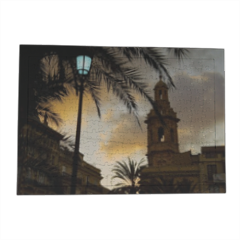 Lamp on sunset Puzzle con cornice A3