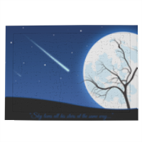 A magic night Puzzle con cornice A4