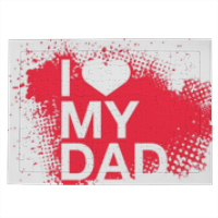 I Love My Dad - Puzzle con cornice A4