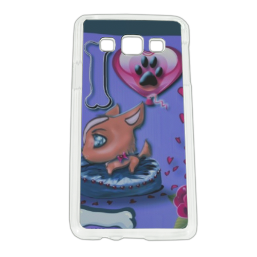 I Love Dog Blu Cover Samsung A3