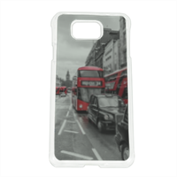 London red and white Cover Samsung Alpha
