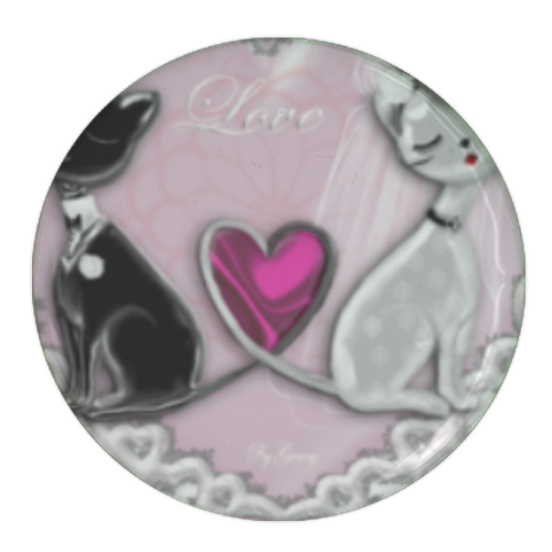 Sweet Love with Dog Spille personalizzate rotonde