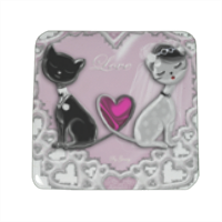 Weddings Cats Spille personalizzate quadrate