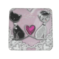 Sweet Love with Dog Spille personalizzate quadrate
