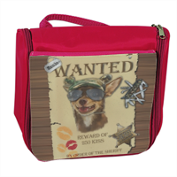 Wanted Rambo Dog Borsa da bagno