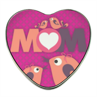 Mamma I Love You - Scatola di latta cuore con foto
