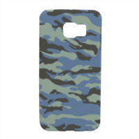 Blue camouflage  Cover Samsung S6 Edge 3D