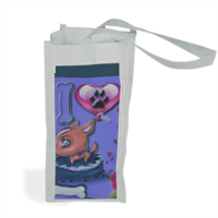 I Love Dog Blu Shopper bag per bottiglie