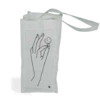 The hand of happiness Shopper bag per bottiglie